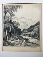 "John Fullwood Signed Artist Proof ""Glen Finlas"" Drypoint Etching Ltd Ed 150"