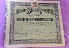Titre pour Caractéristique Singer Machines pour Coudre 1923