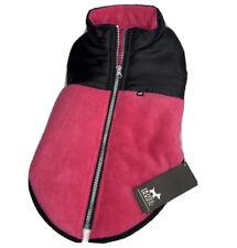 Hotel Doggy Dog Sweater Fleece Vest Coat Color Winter Jacket Pink Black Sz M