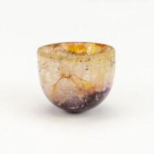 More details for antique blue john glass bowl - miniature bowl