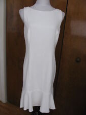 Ralph Lauren women's white lined detailed NWT dress size 10