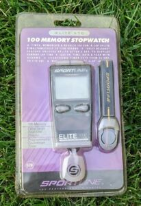 New in Package Vintage Sportline Elite 570, 100 memory chronograph stop watch