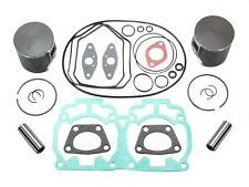 2004 Ski-Doo Rev 600 HO SDI SPI Pistons Bearings Top End Gasket Kit 72mm Bore
