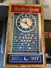 budweiser rare vintage football clock collectible man cave item old Nfl Bud Bowl