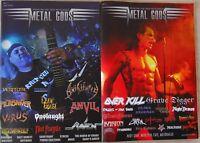 METAL GODS 1+2 HEAVY METAL Fanzine - Vollfarbdruck/englisch/Berichte für Sammler