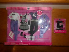 2006 BARBIE FASHION FEVER Clothes Shoes Accessories Purple Black Silver