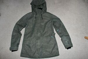Womens Sz 8 Obermeyer Isla Ski Snowboard Waterproof Hood Coat Jacket Parka
