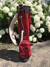 Vintage Uga Georgia bulldogs Miller Golf bag Canvas And Leather