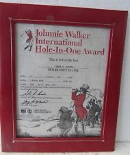 JOHNNIE WALKER INTERNATIONAL HOLE-IN-ONE AWARD  1985