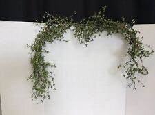 Holly Pip Berry Mantle Garland Christmas Holiday Metallic Green GLITTER 4 foot