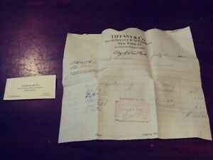 unique 1944 TIFFANY & CO invoice and business card