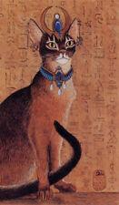 Cat Art Print Abyssinian cat Egyptian setting