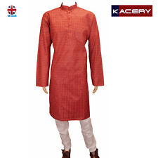 Men's Cotton Red Kurta  Pyjama Outfit  Sherwani Indian  Salwar Kameez  AR160