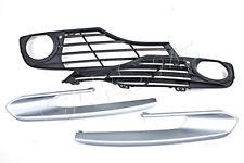 Genuine Fog Light Open Grill + Modern Line Chrome Trim 4pcs Fits BMW 3 F30 11-