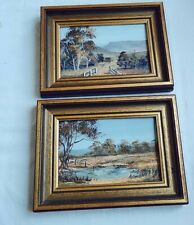 Vintage Oil Painting  Framed beautiful 2 Pieces