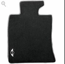 Mini Cooper Logo Black Carpet Floor Mats R55 R56 R57 R58 2011-2014 Front Set OEM
