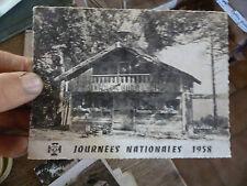 Carte JOURNEE NATIONALE 1958 Jambville Camp Scout Chalet Tyrolien Meulan