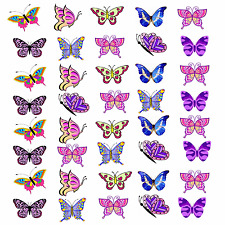 Butterfly Butterflies Girly Edible Cupcake Fairy Cake Toppers Wafer Paper x 40