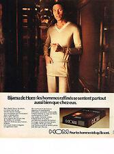 PUBLICITE ADVERTISING  1974    HOM  sous vetements pyjamas