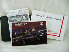 VAUXHALL INSIGNIA & TOURER SERVICE BOOK HANDBOOK & WALLET PACK -  2008 To 2014