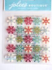 JOLEE'S BOUTIQUE 3D STICKERS - SNOWFLAKES MINI REPEATS coloured Christmas