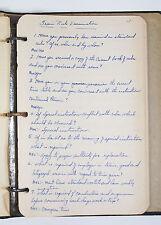 Vintage Railroad Engineer Hand Written Training Notes - Signaling - Diesel Train