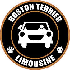 """LIMOUSINE BOSTON TERRIER 5"""" DOG STICKER"""