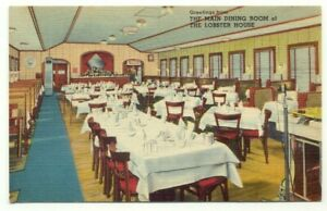 Charlestown MA The Lobster House Restaurant Vintage Linen Postcard Massachusetts