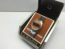 Tiger Eye 1970s Bulova N6 Computron LED Digital Quartz Watch Box set uhr MOT