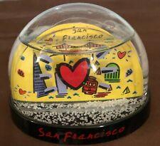 Vintage San Francisco City of Love  Plastic Souvenir Snow Globe Snow Dome