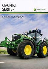 John Deere 6R 11 / 2016 catalogue brochure tracteur Traktor tractor Poland