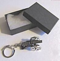 F) KEY-RING PEWTER AND DIECAST METAL MINI CANNON CIVIL WAR ARTILLERY GUN BATTLE