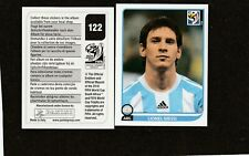 Panini 2010 World Cup South aFRICA  # 122 Lionel Messi