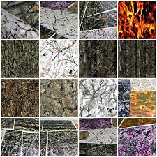 6+ SAMPLES 2M 20' SQ FT TRUE TIMBER CAMO FLAMES SKULLS HYDROGRAPHIC FILM DIP KIT