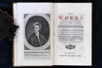 The Works of Alexander Pope 9 Vol 1739-1743 Octavo Unrecorded Variant FPOBO