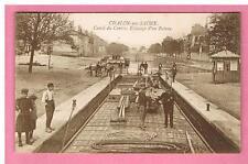 CPA - CHALON SUR SAONE - 71 - CANAL DU CENTRE - ECLUSAGE D'UN BATEAU - PENICHE