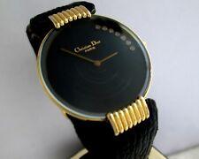 Christian Dior Paris Bagheera Luna Negro 47 153-3 Batería De Cuarzo Reloj de mujer