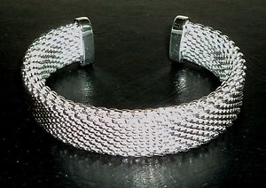 Cuff Bracelet Sterling Silver .925 With Drawstring Pouch NEW #008