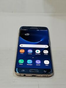 Samsung Galaxy S7 Edge, 32GB, Blue(AT&T)Shadow, LCD Problem, Cracked Screen:C430