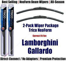 2pk Super-Premium NeoForm Wipers fit 2008-2012 Lamborghini Gallardo 162612x2