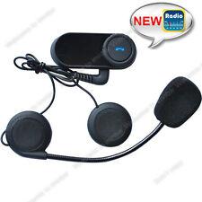 800m BT Interphone Bluetooth Motorbike Motorcycle Helmet Intercom Headset + FM