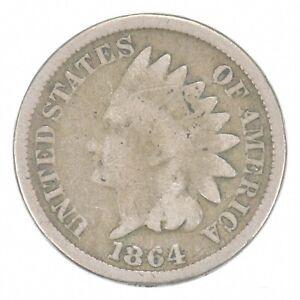 Civil War Era - 1864 Copper Nickel Indian Head Cent - Historic *634