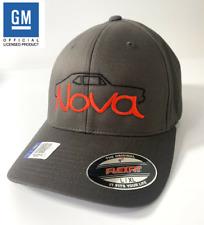 Chevy Nova Hat / Cap - Gray w/ Black Silhouette & Script Emblem (Licensed)