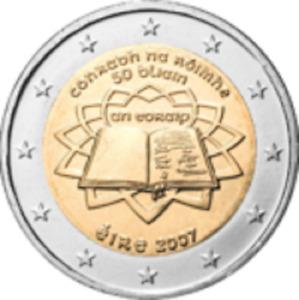"""1x 2euro commémorative Irlande 2007 - Traité de Rome """" TDR """" (neuve)"""