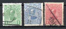 NORWAY , 1909 / 10 , scarce FULL SET HIGH DEFINITIVES ( LARGE SIZE ) , USED !