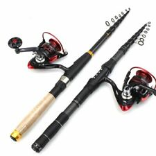 Telescopic Fishing Rod With Reel 1.8m 2.1m 2.4m 2.7m 3.0m Carbon Fiber Portable
