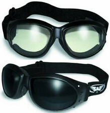 (2 GOGGLES) Motorcycle Riding SUPER DARK & Clear Glasses Sunglasses Burning Man