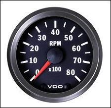 VDO Electronic 12V 52mm Tachometer 0-8000rpm 333 015 031