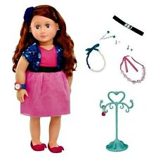 "Our Generation 18"" AURA Deluxe Doll Set Jewelry Toys Pretend Play Necklace  New"