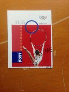 2008 AUSTRALIA INTERNATIONAL POST OLYMPICS S/A RARE CTO